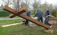 La restauration de la croix du Chêne Dey est presque achevée