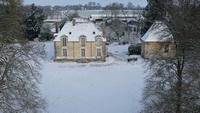 Le château des Onglées sous la neige