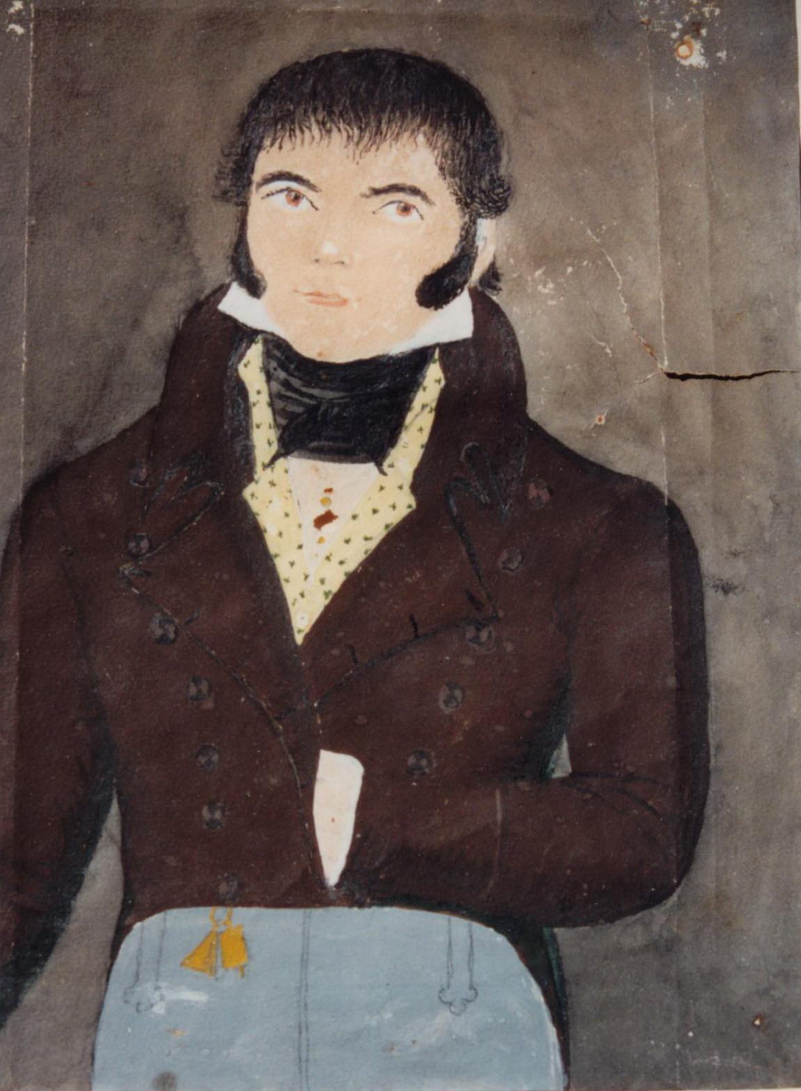 Portrait de Julien Geffroy, marchand de bois, maire d'Acigné sous Louis-Philippe (coll.part.)
