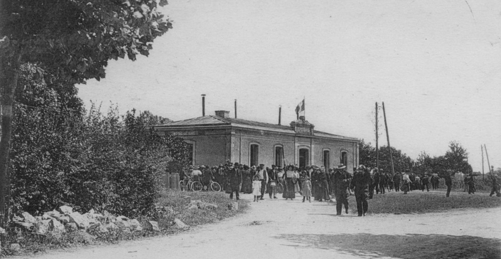 La gare de Noyal-Acigné - 1858