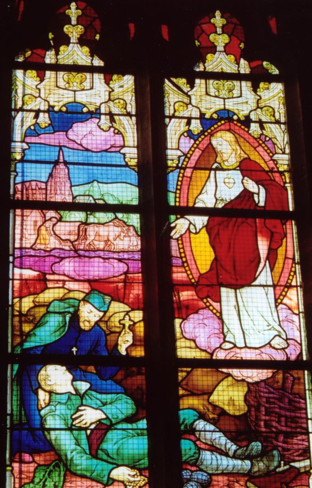 14-18 Vitrail original de l'église de Noyal-sur-Vilaine