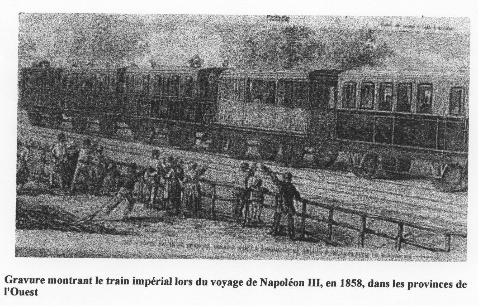 Train impérial en 1858.