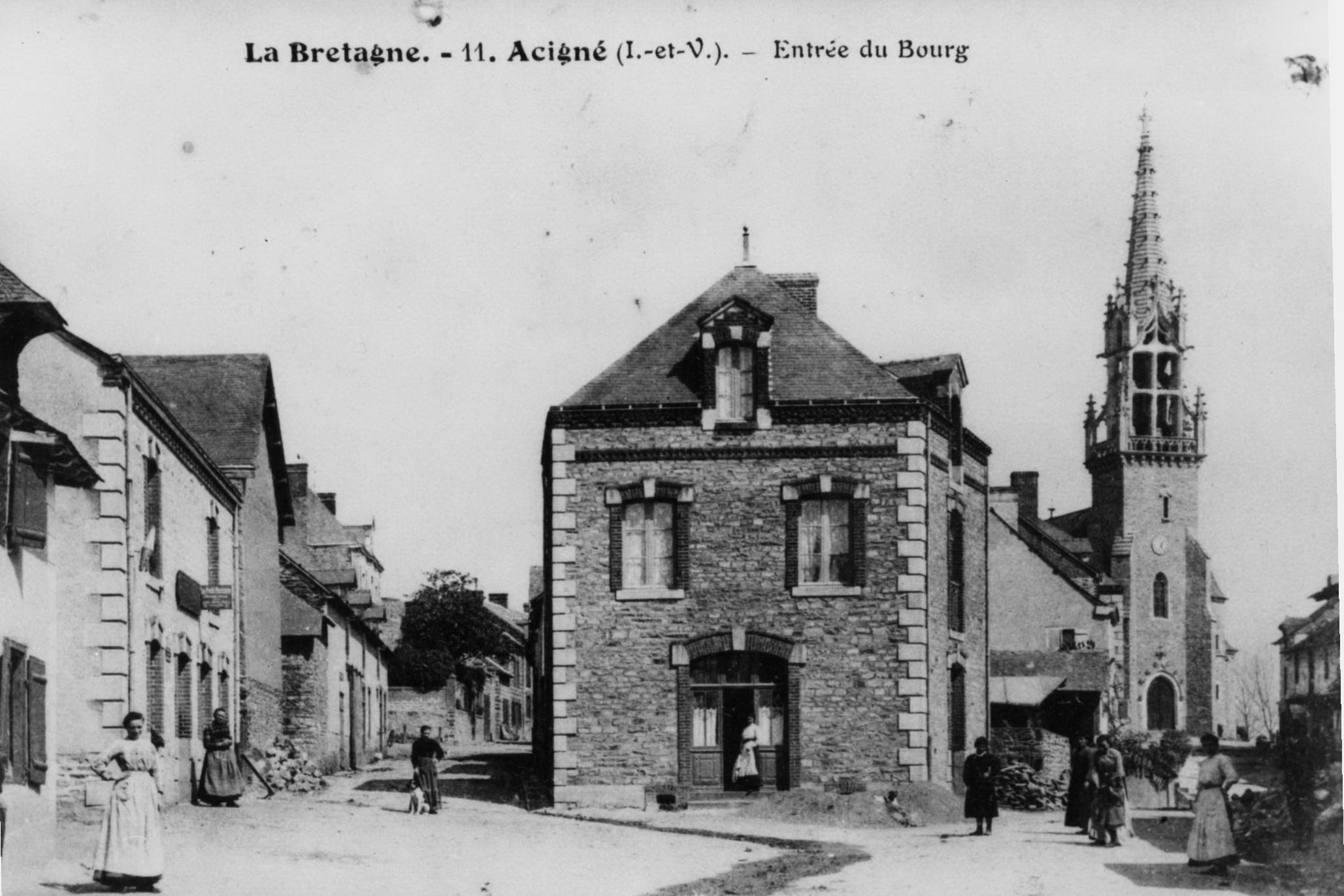 Bourg d'Acigné, côté Ouest - 1905