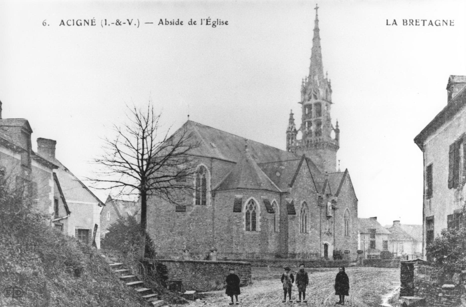 Abside de l'église d'Acigné