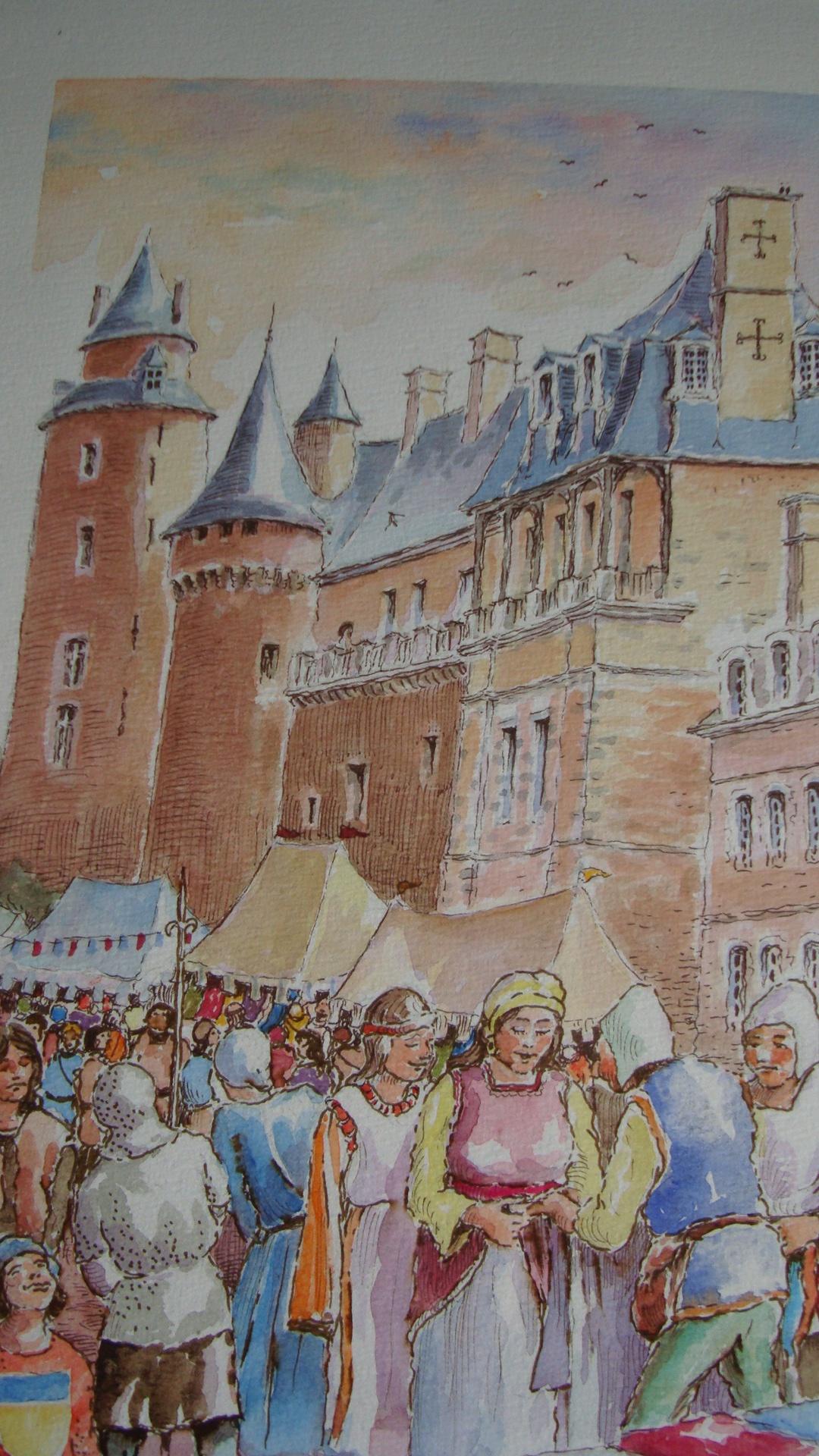Marché aux toiles à Châteaugiron