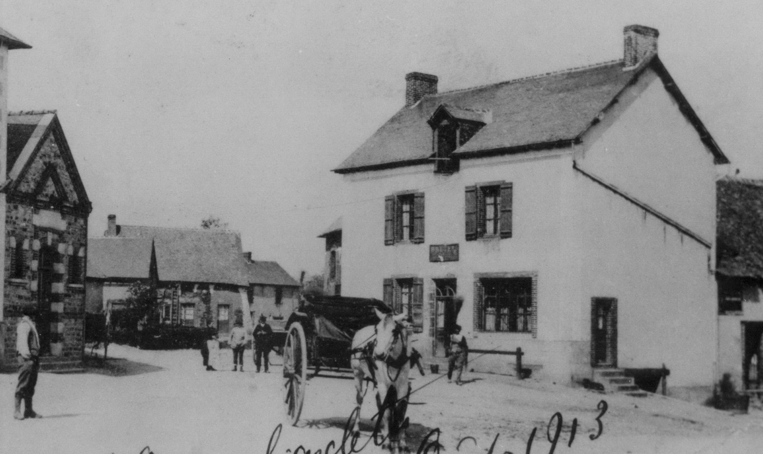 Le café-boucherie Josse en 1913