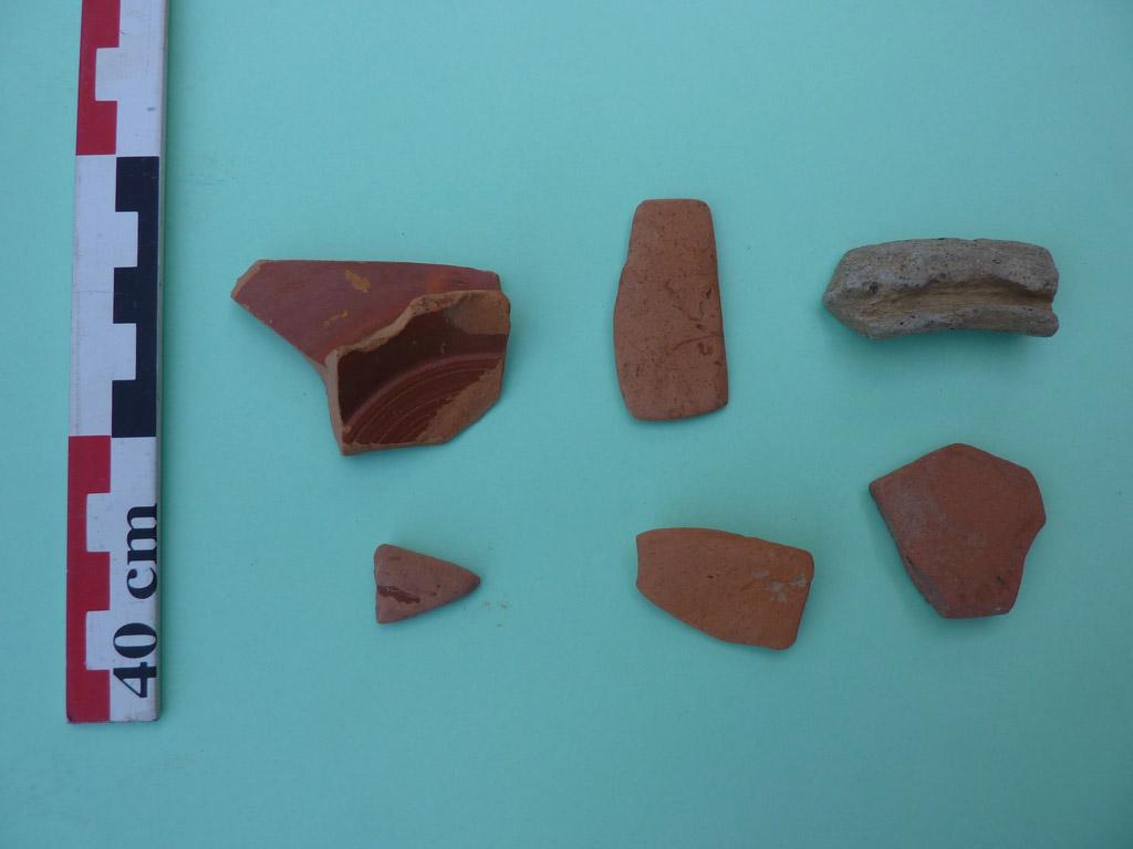 Tessons de poteries gallo-romaines