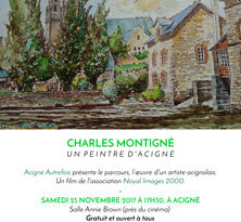 Charles Montigné, un peintre d'Acigné - Acigné Autrefois présente le parcours, l'oeuvre d'un artiste acignolais.